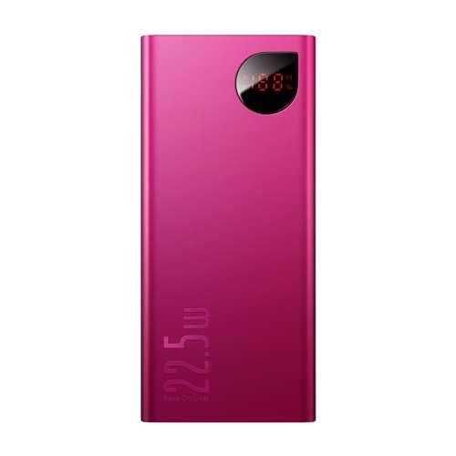 Портативное Зарядное Устройство Power Bank Baseus Adaman Metal Digital Display Quick Charge 22.5W 20000mAh Red