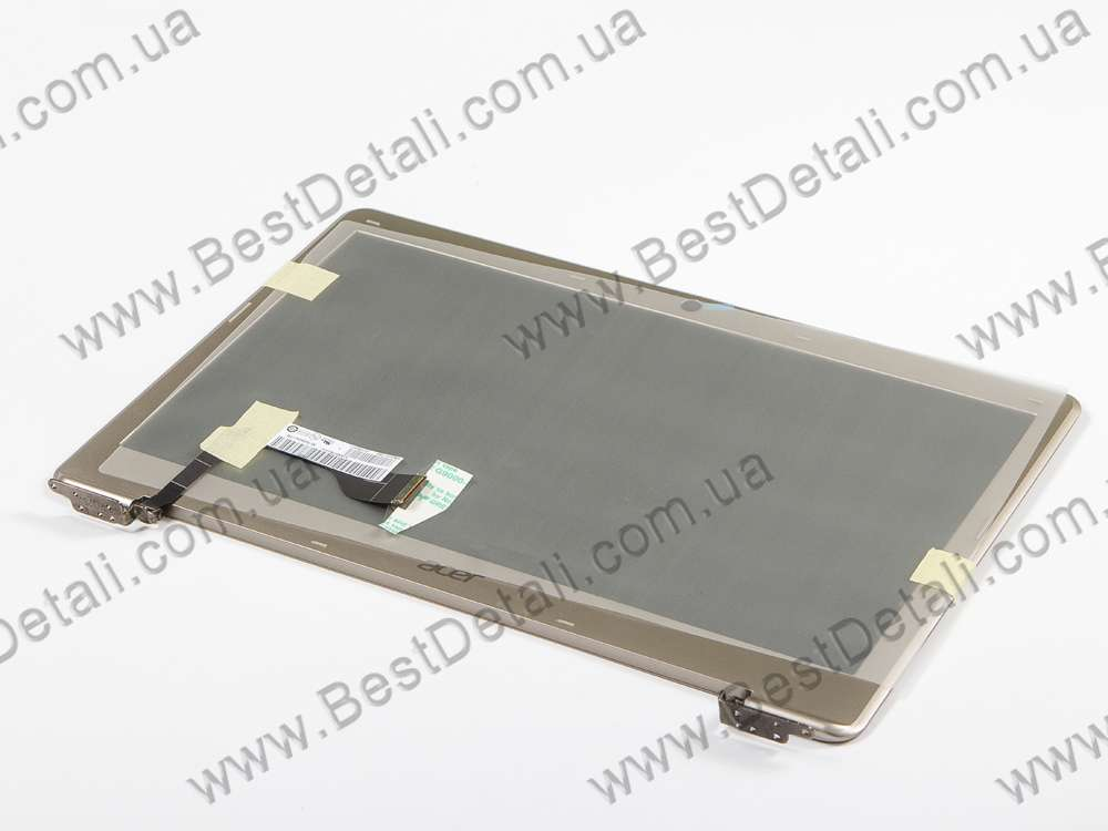 "LCD матрица для ноутбука 13.3"" AUO B133XTF01.0 (1366*768, LED, SLIM, 34pin, (крышка в сборе для Acer S3) глянцевая, разъем справа внизу)"